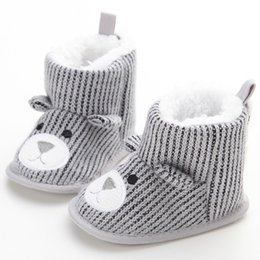 Mother & Kids Winter Baby Boys Girls Boots Soft Plush Cartoon Booties For Infant Anti Slip Snow Boot Keep Warm Cute Crib Shoes Boots