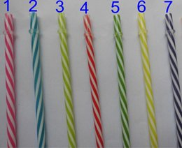 disposable plastic straw UK - Eco-Friendly 23cm Reusable Thick Plastic Drinking Straws Various Colors 30 Pieces Per Bag For Party Wedding Mason