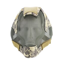 Discount full protective paintball mask - Paintball Masks Tactical Steel Mesh Full Face MA-19 Mask for Army Outdoor Paintball Accessories Protective ant