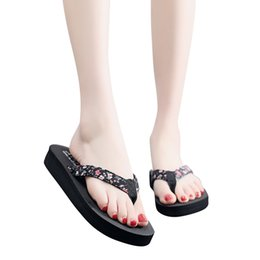 Simple Ethnic Style Female Slippers Bohemian Flat Women'S Slippers Breathable Durable Black Beach Slippers Cartera Mujer