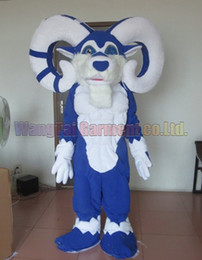 Goat costumes online shopping - New Goat mascot costume Top grade deluxe cartoon character costumes Sheep mascot suit Fancy dress party carnival