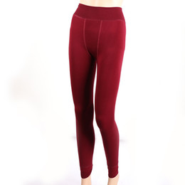 912057553ec4a High Elastic Waist Winter Plus Velvet Thicken Women's Warm Pants Warm Super  Elastic Free Size Winter Thick Slim Leggings