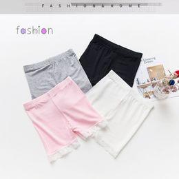 Gray Cotton Leggings Australia - summer fashion girls cotton short leggings lace short leggings for girls lace safety pants shorts baby girl short tights ST174