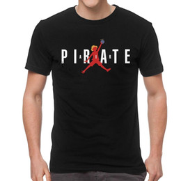leisure funny t shirts Canada - Funny T Shirts Men Brand Short Sleeved Cotton Pirate T-Shirt Streetwear Monkey D Luffy Tee Anime Leisure Tshirt Newest Size S-6XL
