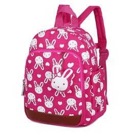 Kids Fabric Bags Australia - Factory Anti-lost Kids School Backpack Cute Cartoon Rabbit Bears Printing Children School Bag For Girls Kindergaden Backpack Bag