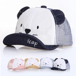 $enCountryForm.capitalKeyWord NZ - Baby Cute Mesh Baseball Cap Fashion Comfortable Travel Cats Sunhat Kids Outdoor Adjustable Breathable Sport Ball Hat TTA789