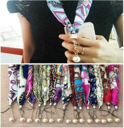 Wholesale 50pc Fashional Pearl Hawaii Scarf Neck Straps Lanyard For iPhone XS MAX XR Samsung Phone Belt Hang Chain Key ID PASS Card Straps