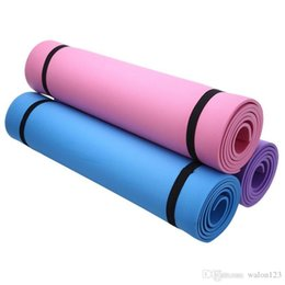 blue gym mats Canada - Wholesale Utility 6MM EVA Yoga Mat Exercise Pad Thick Non-slip Folding Gym Fitness Mat Pilates Supplies Non-skid Floor Free Shipping