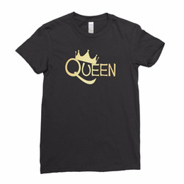 0419fa92fc7 Funny Couples T Shirts Australia - Queen Crown Matching Couples Cool Swag Fashion  Women T Shirt