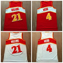 $enCountryForm.capitalKeyWord Canada - High Quality #21 Dominique Wilkins Jersey Cheap #4 Spud Webb Jersey Mens Vintage Shirts Uniforms New Mesh Material Stitched Red White