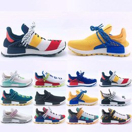 d87dcbd0988e2 With Box Human Race Hu trail Running shoes Men Women Pharrell Williams  Yellow noble ink core Black Red Sports Trainers Sneakers 36-47