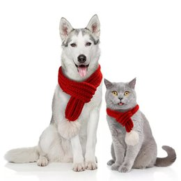 f0caeb6163c3b Creative Pet knitted Christmas Scarf Jewelry VIP Teddy Neck Cat Scarf  Cosplay Clothes Pet Costumes Dog Puppy Cat Supply
