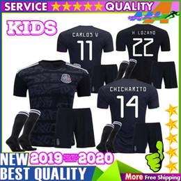 8d6fb2334b5 2019 Mexico soccer jersey kids kit Socks Gold Cup 19 20 Camisetas CHICHARITO  H.LOZANO MARQUEZ HERRERA GUARDADO football shirt