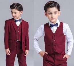 Jacket Shops Australia - Summer New Boys Small Suits 3 Pieces Jackets,Pants,Vests 3-piece Boys Dresses More Styles Shop Selection (jacket+pants+vest) DH6240