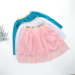 girls pleated skirts NZ - Girls Classic Layers Tulle Tutu Skirt Children Kids Fashion Mesh Ball Gown Pleated Skirts Princess Petticoat Overskirt faldas