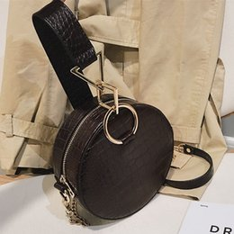 personalized hand bags Australia - 2020 New Personalized Hand Crocodile Shoulder Small Round Bag Korean Chain Wild Crossbody Bag