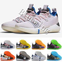 06822832f51e 2018 New Kobe A.D. React Exodus Derozan Black Silver Purple Pink Basketball  Shoes High quality KB Mens Trainers Sports Sneakers Size7-12