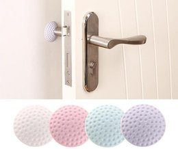 Golf sticks online shopping - Door Stickers Wall Thickening Mute Golf Modelling Rubber Fender Handle Door Lock Protective Pad Protection Wall Stick protector FFA1983