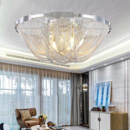 $enCountryForm.capitalKeyWord UK - Modern Italy style Lamp Aluminum Chain Ceiling Chandelier Lighting Luxury Stair Flush Mounted Light for Home Hotel Restaurant Decoration