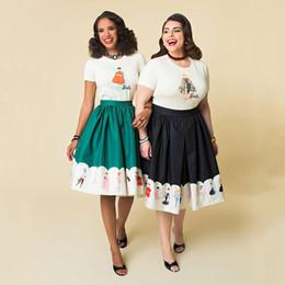 8d8f4d1ab20 Skirt Women High Waist Christmas Plus Size Floral Print Polka Dot Ladies  Skirts Skater 50s 60s Swing Vintage Skirts Dropship C19041601