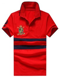 Cotton Express Australia - Express 2019 Summer Men's Casual Polos Cotton Big Pony 2 Embroidered Tennis Business Polo Shirts Short Sleeve Middle Striped Tees