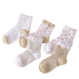 $enCountryForm.capitalKeyWord UK - 5 Pairs Socks Set Baby Boy Girl Cotton Cartoon Candy Colors Dot, Breathable, Stylish Socks Infant Toddler Kids Soft Sock