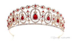 south indian bridal hair accessories UK - Direct sale of new European and American bridal tiaras, tiaras, hair ornaments, crystal headbands, wedding accessories