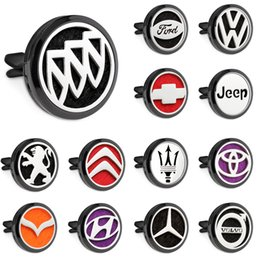 air figure Australia - 30mm gun black Magnet Open Car Diffuser Essential Oil Perfume Locket Vent Clip Car air freshener 10pcs free pads