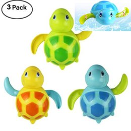 $enCountryForm.capitalKeyWord Australia - 3pcs Bath Swimming Turtle Toy for Baby Toddler Wind Up Chain Bathing Water Toy Swimming Tub Bathtub Pool Cute Swimming Turtle Toys