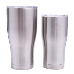 Double steel beer mug online shopping - stainless steel curving tumblers OZ OZ double wall vacuum waist shape water cups insulation beer coffee mugs MMA1908