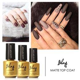 Long Lasting Coating Australia - Focallure Beauty 6ml Matt Matte Top Nail Polish Nail Art Top Coat Gel Lacquers Long Lasting UV Led