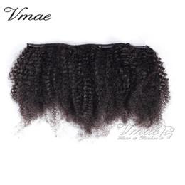 Vente en gros Brésilien Afro Kinky Curly naturel noir 3A 3B 3C 4A 4B 4C Virgin Hair Extensions non transformé Remy humain pince à cheveux en