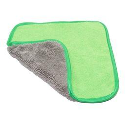 Plush Towels UK - Cheap Sponges 42*37cm Soft Coral Velvet Towel Super Absorbent Wash Microfiber Towel Car Washing Cleaning Cloth Thick Car Care Plush Cloth
