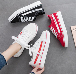 Spring Fall Canvas Shoes Australia - Women's canvas casual shoes 2019 spring and summer new wild white shoes female students running shoes