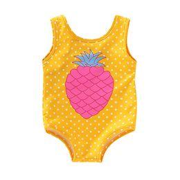 Swimwear Infant Australia - Swimwear for girls infant swimwear Children Kids Girls Sleeveless Bikini Beach Pineapple Print One Piece Swimsuit D300220