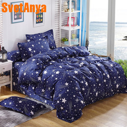 Full Sized Beds Australia - Svetanya cheap Bedlinen Fashion Print Bedding Set Single Double Full Queen Size (Duver Cover +flat Sheet+Pillowcase)