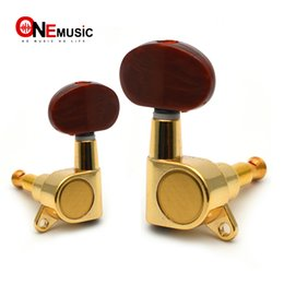 $enCountryForm.capitalKeyWord Australia - 6 pcs sets Golden Folk Acoustic Electric Guitar Inline Guitar Tuning Peg key Machine Heads Tuners With Coffee Hemicycle knob