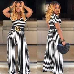$enCountryForm.capitalKeyWord Australia - 2019 New women's dress skirt striped short sleeve body open crotch trousers casual pullover round neck trim body sexy lady clothes