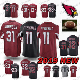 Arizona Cardinal jerseys 11 Larry Fitzgerald 31 David Johnson 32 Tyrann  Mathieu 23 Adrian Peterson jersey a42e8a68a