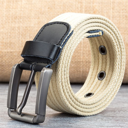 $enCountryForm.capitalKeyWord Australia - D021 Design belt high quality canvas mens belt yellow black white homme belts ladies brand waistband 200 cm free shipping