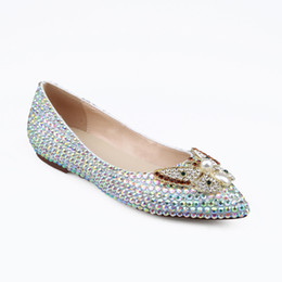 glitter shoes for girls Australia - Genuine leather bride shoes dress girls footwears Hand made flat heel shoes for women dress loafer bowtie flats dancing ball footwear zy498