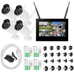 dvr security system wireless cameras 2019 - 10in 1.3MP HD Wireless WIFI Baby Monitor 4 Cameras Smart DVR Home Security System discount dvr security system wireless