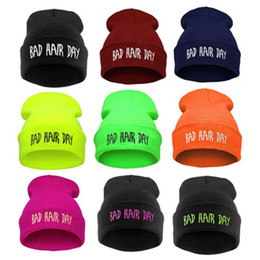 $enCountryForm.capitalKeyWord NZ - Beanies Woman Bad Hair Day Hats Winter Unisex Casual Male Cap Boy Hip Hop Embroidery Autumn Knitted Hat Female cny1541