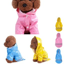 Pu Coating For Waterproof NZ - Outdoor Puppy Pet Rain Coat S-XL Hoody Waterproof Jackets PU Raincoat for Dogs Cats Apparel Clothes Wholesale