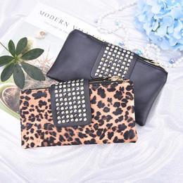 0c7755922d15 Red Leopard Print Clutch Bag Australia - Women Handbag Leopard Print Clutch  Bag Women Rivet Zipper
