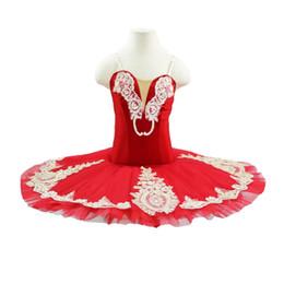 $enCountryForm.capitalKeyWord UK - Child Red Children Plattered Tutu Ballet Skirt Red Pancake skirt Swan Lake Show Dance Performance Costume For kids