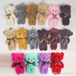 497faf79a91 kawaii Teddy Bear Doll Plush Stuffed Keychain Toy Bag Pendant Cute Mini Doll  11-13CM Toys For Children Gift Random Color