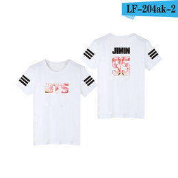 printed v neck t shirts UK - Kpop Bangtan Boys Jung Kook Jhope Jin Jimin V Suga T -Shirt Women Tshirt Tee Shirt K -Pop Accessories Female