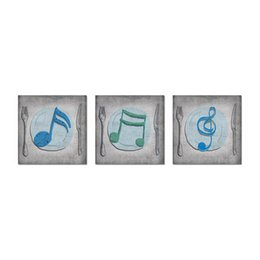 $enCountryForm.capitalKeyWord Australia - Unframed Printed 3 Pieces Funny Music Wall Art Pictures Canvas Prints Musical Themed Art Decor