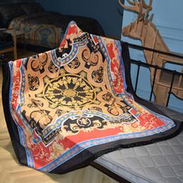 $enCountryForm.capitalKeyWord Australia - Luxury designer brand comfortable bedding and outdoor blanket creative patterns double layer thicken blanket shawl Christmas new Year 2019